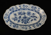 Meissen Blue Onion 12 Oval Serving Plate Oval And Star Makers Mark