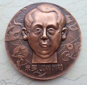2000 China 80mm Copper Medal - Western Artists Series - Joan Miro