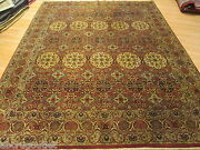 8x11 Floral Allover-pattern Vegetable Dye Handmade-knotted Wool Rug 582992