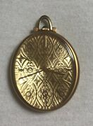18k Jaeger - Le Coultre Oval Shaped Pocket Watch With Guilloche Dial