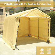 10and039x10and039x8and039ft Storage Shelter Car Garage Steel Carport Canopy Cover Tent Beige