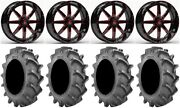 Fuel Maverick Red 18 Wheels 33x8 6ply Bkt 171 Tires Polaris Rzr Turbo S/rs1