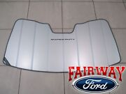 17 Thru 21 Super Duty Oem Ford Sun Shade Screen With Logo And Storage Bag New