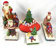 Lot Of 5 Christmas-themed Figurines, Mostly Jim Shore Enesco