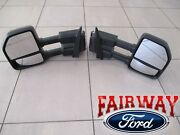 15 Thru 20 F-150 Oem Genuine Ford Power Trailer Tow Mirrors Pair For Xl And Xlt