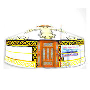 Mongolian Yurt Yellow Canvas Cover Water Resistant