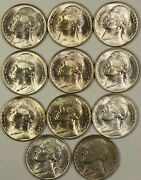 1942-1945 Silver War Time Nickel Set 1 Coin From Each Year And Mintmark