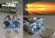 Small Chrome License Plate Bolt Lights Dual Function Turn Signal And Tail Lights
