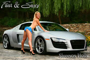 Blonde Babe With Audi R8 Fastandsexy Poster