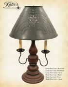 Wooden Liberty 2 Arm Lamp With Lamp Shade By Katieand039s Lighting 8 Color Options