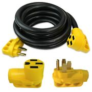 15 Foot 50 Amp Rv Extension Power Cord 100 Copper Wires Trailer Motorhome New