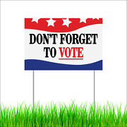 Indoor Outdoor Garden Decor Don't Forget To Vote Yard Lawn Sign With Stakes