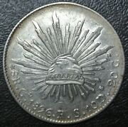 1896 Go Rs Mexico - 8 Reales - .903 Silver - Liberty Cap - Nice Details
