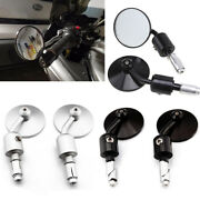 Universal Bar End Mirrors 7/8 For Motorcycle Cafe Racer Bobber Chopper Ducati