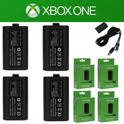 Lot4 For Xbox One Play And Charge Kit Rechargeable Battery Pack And Charging Cable
