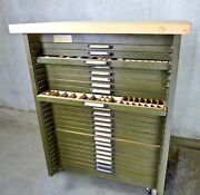 Hamilton Mfg. Co. Vintage Metal Drawer Cabinet For Lead Type