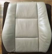 Bmw E46 4-dr Front Driver/pass Seat Backrest Beige Leather Upholstery Heat Oem