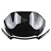 13.5and039and039 Wave Windshield Windscreen W/ Trim Fit For Fltr Fltrx 2015-2019 Black