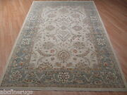 6x9 Muted Museum Allover-pattern Vegetable Dye Handmade-knotted Wool Rug 582075