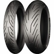 120/70zr17 + 190/55zr17 Michelin Pilot Power 2ct Front And Rear Tire 2 Tires
