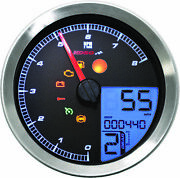 Koso Lcd Color Change Speedo And Tachometer - Silver Bezel - Ba051201