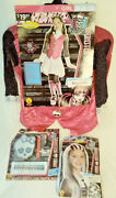 Monster High Draculaura Costume + Frankie Wig And Makeup Kit Halloween Free Ship