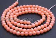 3-4mm Round Pink Natural Coral Beads For Jewelry Making Diy Necklace Strand 15