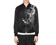 Nwt Alexander Mcqueen Moon-embroidered Silky Twill Bomber Jacket Sz 50 Us 40