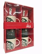 Starbucks Gift Set- Holiday Collection With 4-14oz. Porcelain Mermaid Mugs