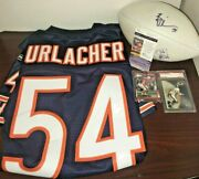 Lot Of 5 Brian Urlacher Signed Football Rookie Card Authentic Jersey Bobble Jsa