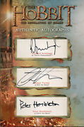 The Hobbit The Desolation Of Smaug Om16 Triple Autograph Redemption Card
