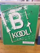 """Kool Advertising Cigarette Tobacco Metal Sign 36"""" X 30"""" Double Sided L1"""
