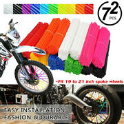 72pcs Front And Rear Spoke Wrap Cover Guard Skin Coats Kit For 19-21 Rims Yz