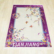 Yilong 4and039x6and039 Vintage Handmade Chinese Art Deco Silk Carpet Indoor Study Area Rug