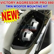 For Victory Cross Country Touring Aggressor Pro 880 Twin Woofer Mounting Kit New