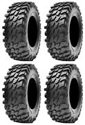Full Set Of Maxxis Rampage Radial 8ply Atv Tires 30x10-14 4