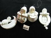 Snowbabies 4 Hanging Ornaments, See Pic's, Excellent Conditon