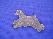 Cocker Spaniel Pin 33a Leaping Pewter Sporting Dog Jewelry By Cindy A. Conter