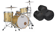 Pearl Masters Complete 22/12/16 Bombay Gold Sparkle Drums Bags Authorized Dealer