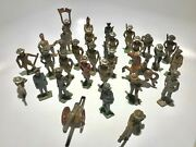 Lot Of 31 Vintage Hand Painted Lead Soldiers And Figures - Free Shipping Usa