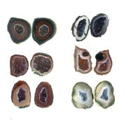 Fantasia Wholesale Lot Of 100 Pairs Of Tabasco Geodes - Jewelry Making Supplies