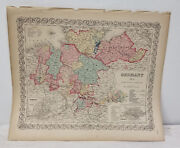 Antique Vintage Hand Colored Lithograph Map Atlas Germany Colton's World Atlas