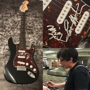 Gfa Eric Martin And Billy Mr. Big Band Signed Electric Guitar Proof Coa
