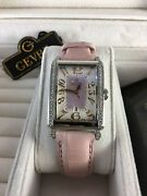 Gevril Avenue Of Americas Womenand039s 7248re Mini Pink Mop Dial Diamonds Date