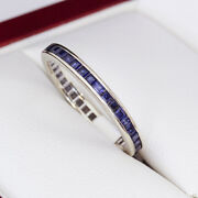 Sapphire And White Gold Full Eternity Ring Very Nice Estate Age