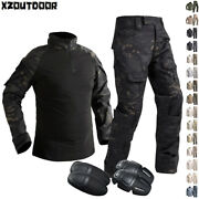 Airsoft Menand039s Tactical Shirt Pants Military Combat Army Bdu Uniform Camouflage