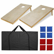 4x2and039 Foldable Diy Wooden Bean Bag Toss Cornhole Game Set Of 2boards And 8 Beanbags