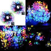 Vmanoo Solar Outdoor Christmas String Lights 21ft 50 Led Multi-color 2 Pack