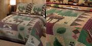 Greenland Home Moose Lodge Quilted Bedding Set King Natural King