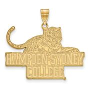 Hampden Sydney College Tigers School Mascot Pendant In 14k And 10k Yellow Gold